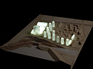 Small 1000 scale Wooden Master Planning Model with Lights