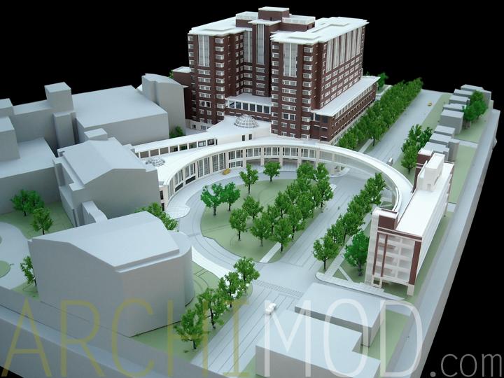 Hospital Models on One Level House Plan