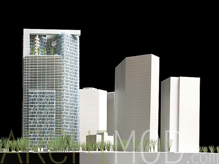 Archimod office park models for 400 university terrace