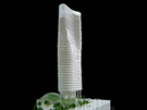 Amorphic High-Rise Model at 300 Scale