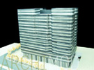 Metal Finish Office Building Scale Model at 200 Scale