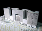 White Office Building Model at 300 Scale