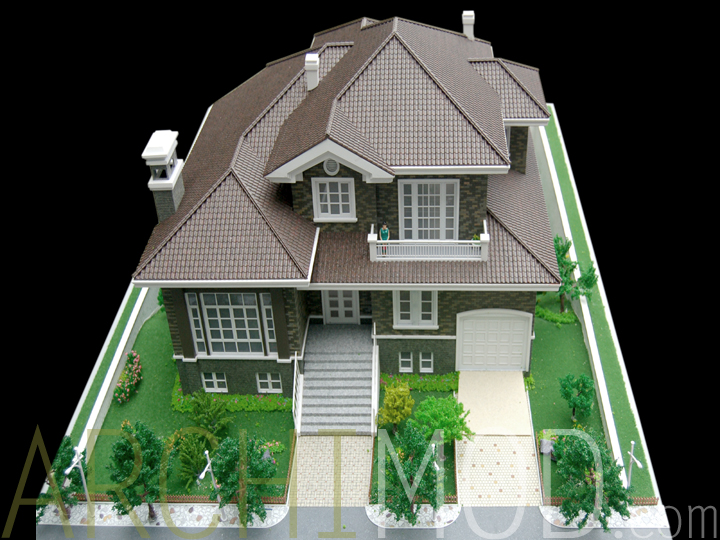 09 custom house miniature modeljpg - Dream House Model
