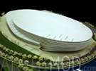 White Sports Center Scale Architectural Model at 200 Scale