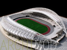 White Soccer Stadium with Track Scale Model