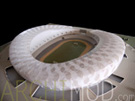 Open Air Football Stadium- White Scale Model