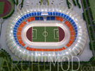 Football Stadium with Track at 500 scale