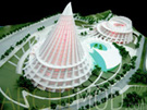 Circus University Campus Scale Model at 200 Scale