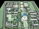 College Campus Planning Model with Stadium at 500 Scale